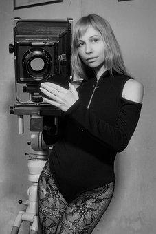 Camera, Retro, Vintage, Technique, Lens, Tripod