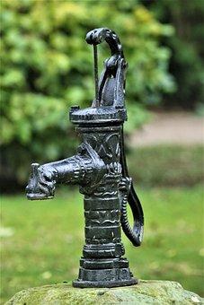 Pump, Water Pump, Metal, Steel, Old, Hand Pump