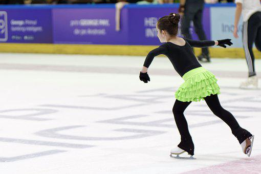 Girl, Young, Skating, Skater, Ice, The Ring, Skirt