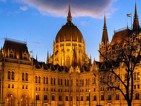 Budapest, Night, Hungary, Architecture, Building, City