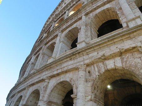 Colloseum, Rome, Italy, Arena, Tourism, Ancient