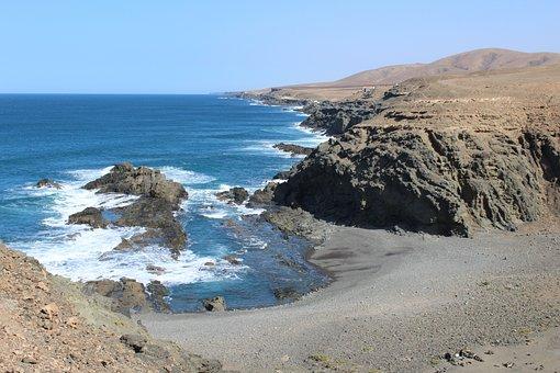 Fuerteventura, Canary Islands, Wild, Playa San Ines
