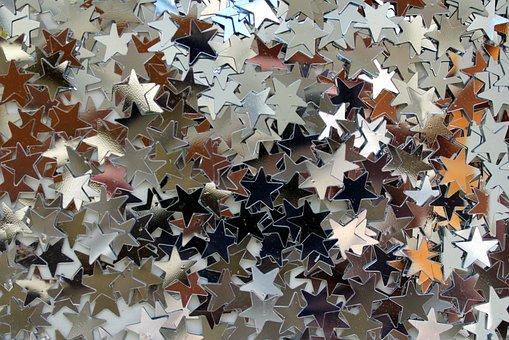 Stars, Confetti, Celebrities, Decorative, Decoration
