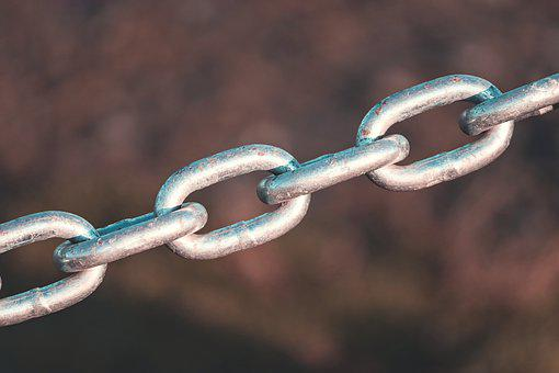 Metal Chain, Chain, Rusty, Iron, Barrier, Metal