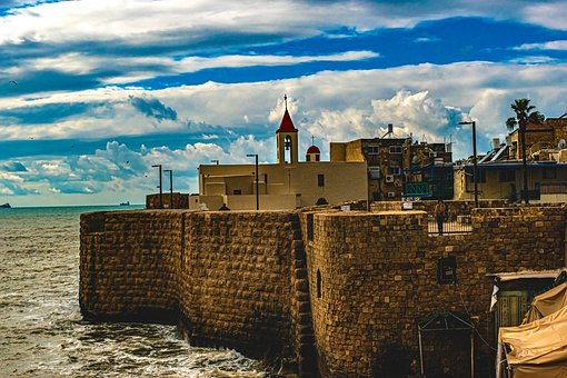 Israel, Culture, Old Akko, Acre, Port, Church, Town