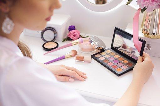 Eyeshadow, Cosmetics, For Painting, Powder, Brush
