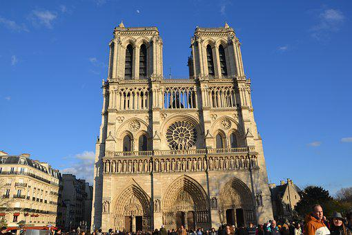 France, Paris, Cathedral, Church, Architecture