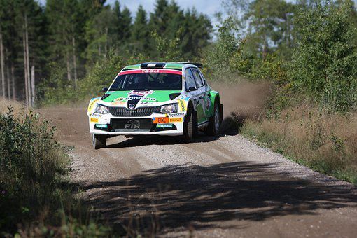 Rally, Skoda Fabia R5, Mattias Adielsson, Gravel