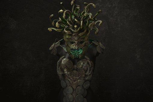 Medusa, Gorgon, Greek, Monster, Mythology, Antique