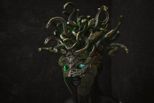 Medusa, Gorgon, Greek, Monster, Mythology, Antique