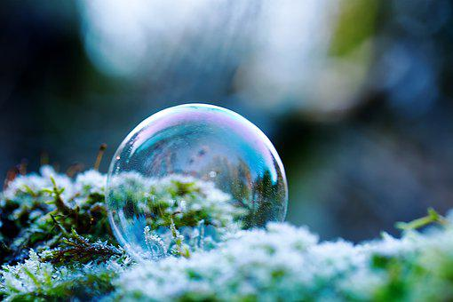 Soap Bubble, Frost, Nature, Frozen, Ice, Cold, Icy