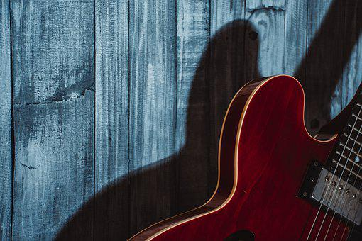 Guitar, Instrument, Music, Wood, Sound, Melody, Shadows