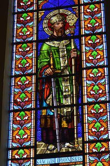 Stained Glass, Window, Church, Colorful, Man, Saint