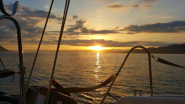 Sailing, Montreux, Lake, Nature, Water, Summer