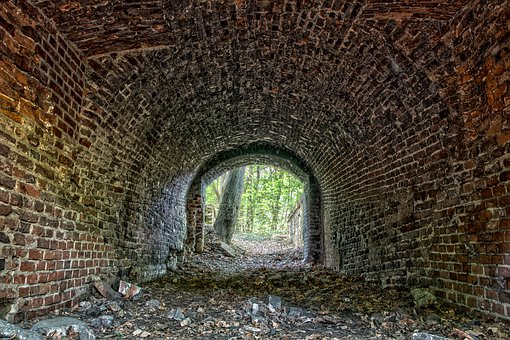 Tunnel, Transition, Light, Mood, Dreary, Brick, Channel