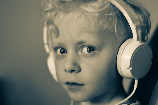 Boy, Headphones, Music, Listen, Child, Smiling