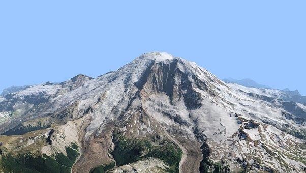 Mount, Rainier, Park, National, Landscape, Peak