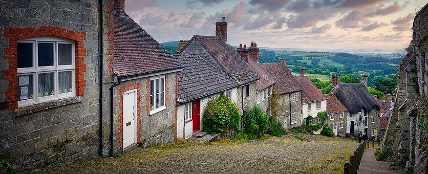 Dorset, England, Fairytale, Sunset, Nature, Building