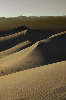 Death Valley, California, Desert, Sand, Dunes, Nature
