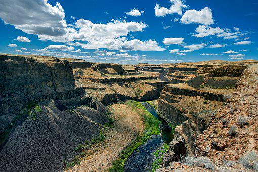 Gorge, Canyon, River, Nature, Cliff, Landscape, Abyss