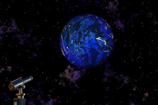 Planet, Telescope, Universe, Star, Night, Cosmos, Blue