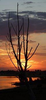 Sunset, Sundowner, Sky, Blue, Orange, Afterglow