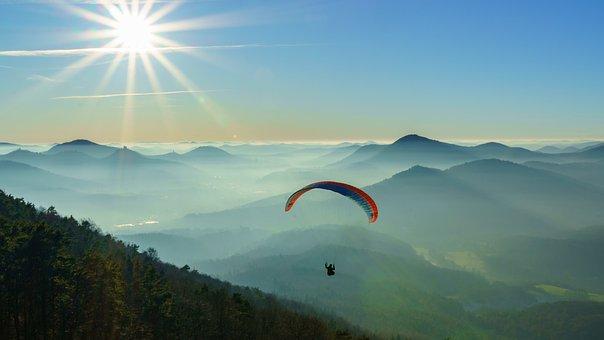 Paraglider, Palatinate, Trifels, Hike, Outlook, Fog