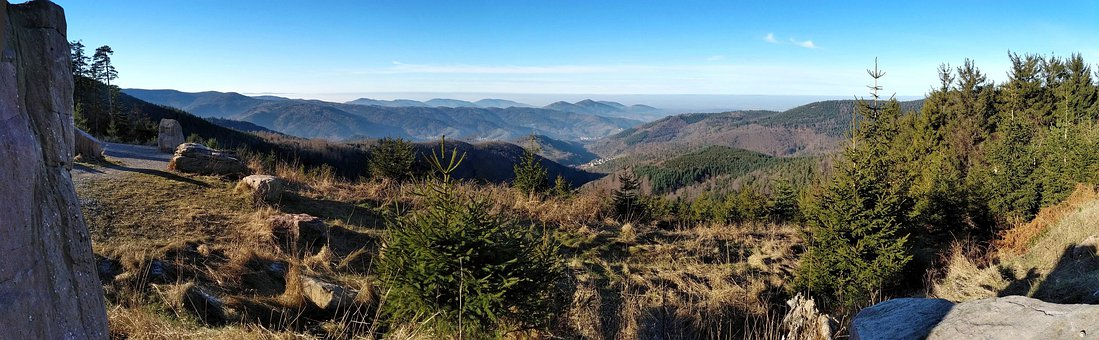 Black Forest, Panorama, Good View, Valleys, Mountains