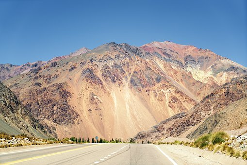 Pass Road, Andes, Argentina, South America, Travel