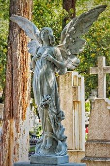Angel, Graveyard, Cemetery, Grave, Heaven, Religion