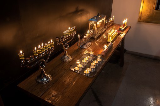 Lights, Religion, Oil, Antique, Flame, Light, Hanukkah
