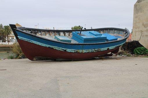 The Port Of Santa Maria, Guadalete, Barca, Craft, River