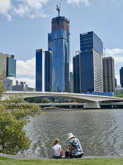 River, Tranquil, Scenic, View, Relax, Brisbane
