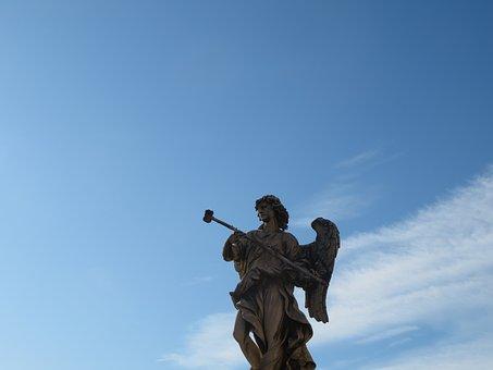 Angel, Roman, Rome, Sculpture, Statue, Architecture