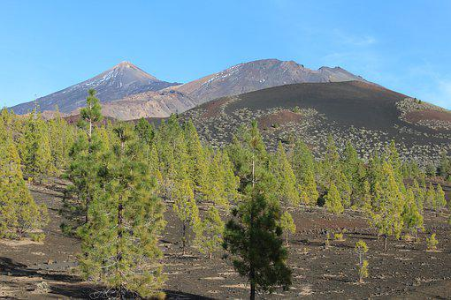 Teide, Tenerife, Hiking, Volcano, Sky, Spain, Panoramic