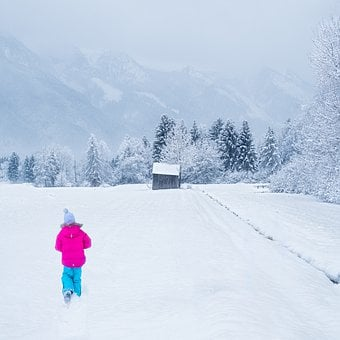 Winter, Snowfield, Person, Girl, Boy, Snowy, Snow