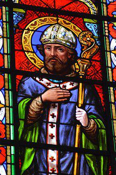 Stained Glass, Window, Church, Portrait, Face, Beard