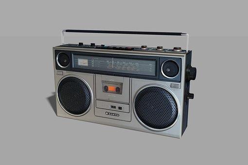 Boombox, Stereo, Retro, Vintage, Ghetto, Blaster, Boom