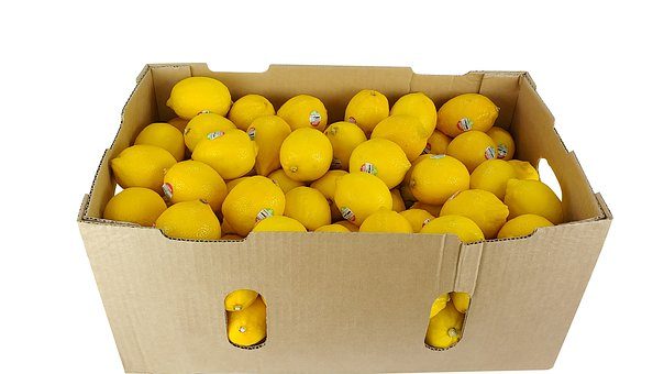 Lemon, Lemon Box, Lemon Package, Fruit, Yellow, Sweet