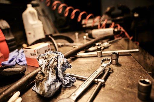 Work, Tools, Keys, Oil, Engines, Tool, Facility, Metal
