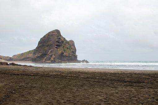 Beach, Nature, Rocks, Waves, Surf, Mountain, Landscape