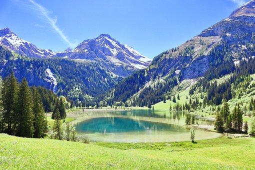 Mountain, Bergsee, Nature, Lake, Alpine, Switzerland
