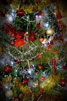 Garland, Fir, Christmas, Decoration, Bowls, Brilliant