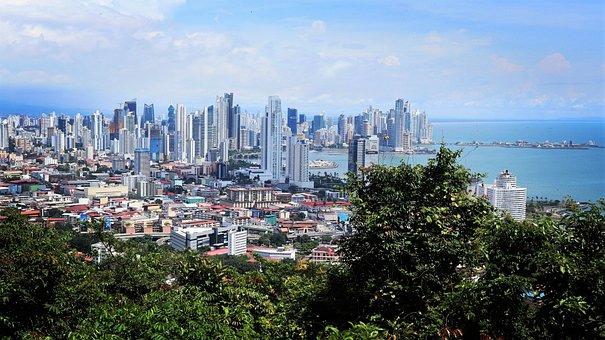 Panama, City, Skyline, Coastline