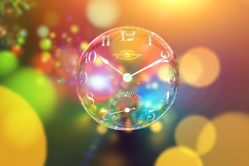 Clock, Bokeh, Time Out, Soap Bubble