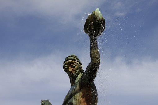 Gothenburg, Poseidon, Carl Milles, Statue, Copper