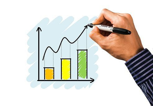 Graph, Chart, Investment, Growth, Hand, Drawing