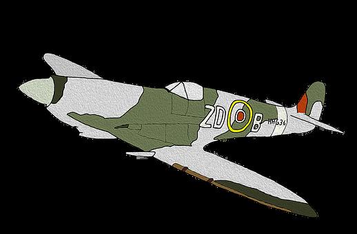 Spitfire, Plane, Ww2, Aircraft, War, Fighter, Vintage