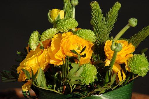 Flower Arrangement, Composition, Decoration, Flowers