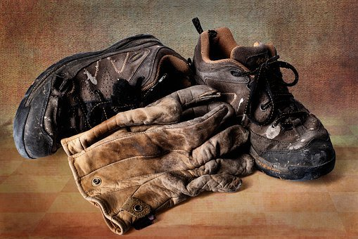 Boots, Gloves, Worker, Gritty, Industrial, Old Friends